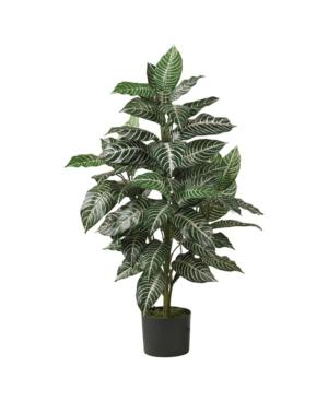 Nearly Natural 3' Zebra Silk Plant