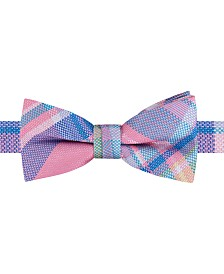 Tommy Hilfiger Toddler & Little Boys Pastel Plaid Pre-Tied Silk Bow Tie