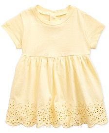 Polo Ralph Lauren Baby Girls Scalloped Eyelet Cotton T-shirt