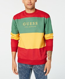 GUESS Originals Men's Go Field Colorblocked Stripe Logo Sweatshirt