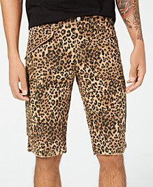 Men's Leopard-Print Cargo Shorts