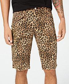 GUESS Men's Leopard-Print Cargo Shorts