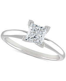 Certified Diamond Engagement Ring (1 ct. t.w.) in 14k White Gold