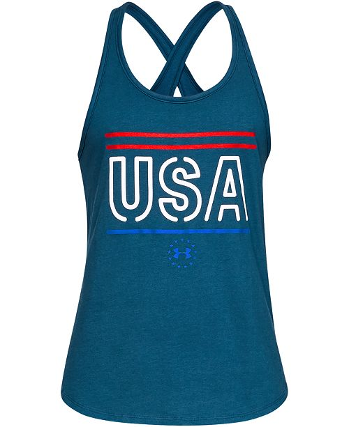 Under Armour Graphic Cross-Back Tank Top