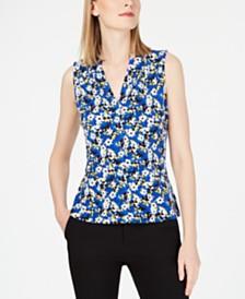 Calvin Klein Petite Floral-Print Top