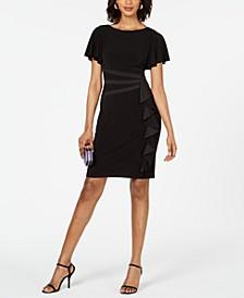 Flutter-Sleeve Ruffle Dress