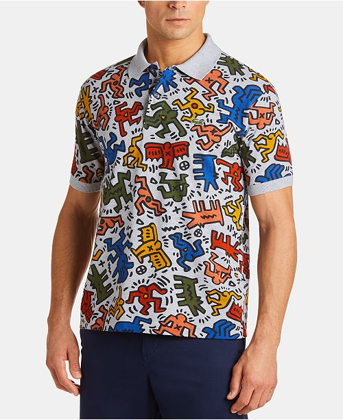 7b14103bb98c Lacoste x Keith Haring Men s Classic-Fit Printed Polo Shirt ...