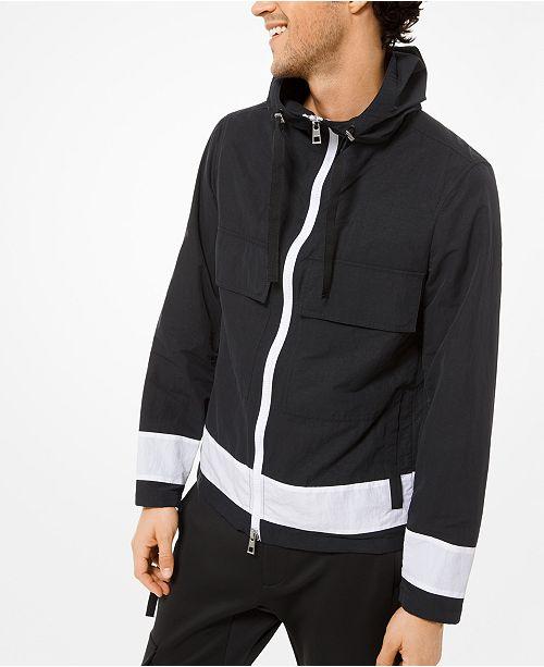 Michael Kors Men's Hooded Stripe Jacket