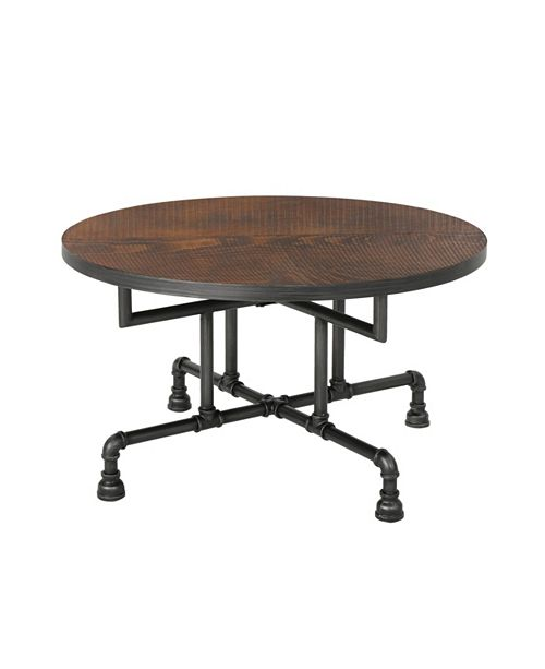 Noble House Westleigh Industrial Faux Wood Coffee Table
