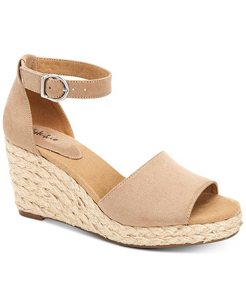 Style & Co Seleeney Wedge Sandals, Created for Macy's