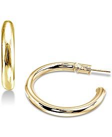Giani Bernini Polished Tube Hoop Earrings, Created for Macy's