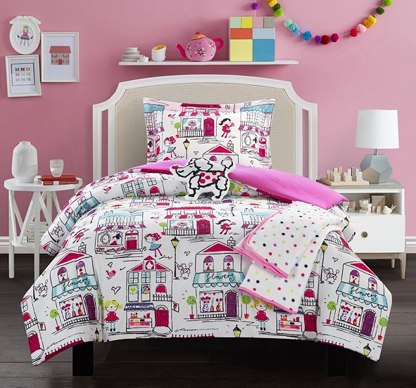 Chic Home Kid's City 4 Piece Twin Comforter Set