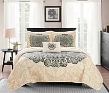 Chic Home Raina 8 Piece King Bed in a Bag Quilt Set