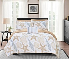 Maritime 6 Piece Twin Bed in a Bag Quilt Set