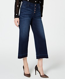 I.N.C. Petite Cropped Wide-Leg Denim, Created for Macy's