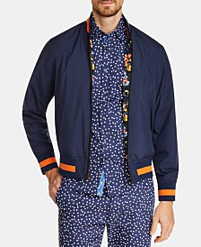 Tallia Men's Slim-Fit Reversible Koi Bomber Jacket