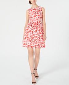 Anne Klein Humboldt-Print Fit & Flare Dress