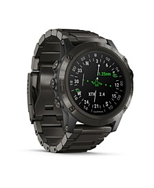 D2 Delta Premium GPS Aviator Watch in Titanium