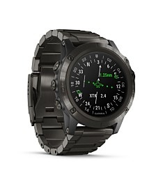 Garmin D2 Delta Premium GPS Aviator Watch in Titanium
