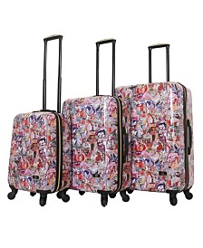 Halina Susanna Sivonen Squad 3 Piece Hard Side Spinner Luggage Set