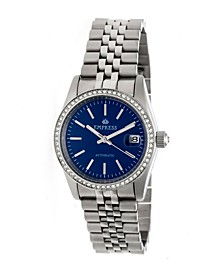 Constance Automatic Blue Dial, Silver Stainless Steel Watch 37mm