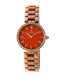 Catherine Automatic Red Dial, Rose Gold Stainless Steel Watch 36mm