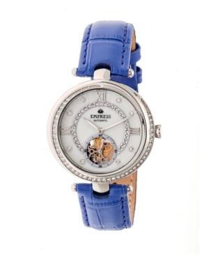 Stella Automatic Purple Leather Watch 39mm