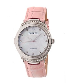 Francesca Automatic Light Pink Leather Watch 35mm