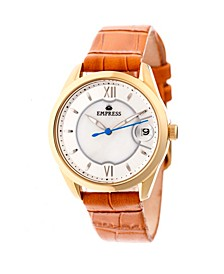 Messalina Automatic Camel Leather Watch 34mm