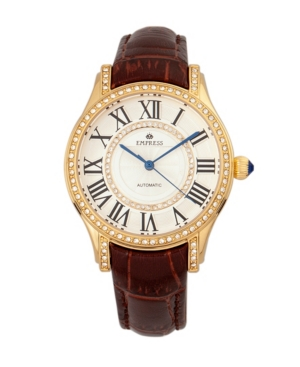 Xenia Automatic Brown Leather Watch 35mm