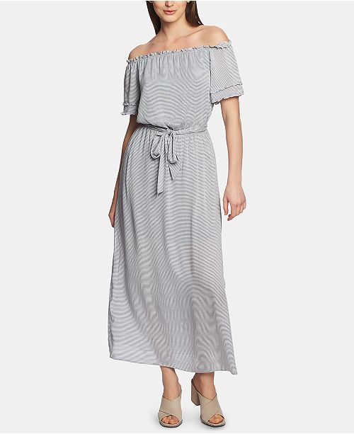 48e62ed3d386 1.STATE Off-The-Shoulder Pinstriped Maxi Dress   Reviews - Dresses ...