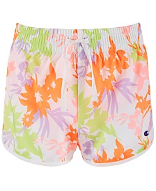 Champion Big Girls Floral-Print Shorts