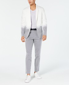 I.N.C. Men's Slim-Fit Partially Striped Blazer, Created for Macy's