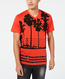 I.N.C. Men's Palm Tree Graphic V-Neck T-Shirt, Created for Macy's