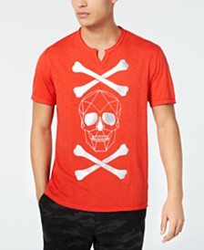 I.N.C. Men's Skull & Cross Bones T-Shirt, Created for Macy's