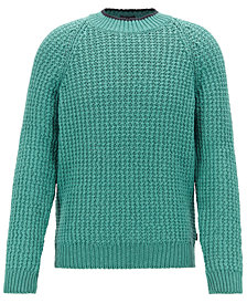 BOSS Men's Knitted Cotton Sweater