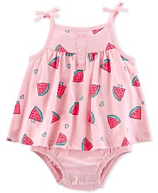 Carter's Baby Girls Cotton Watermelon Sunsuit