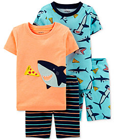 Carter's Baby Boys 4-Pc. Shark Pajamas Set