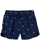 88fd72d2efc5 Carter's Toddler Girls Star-Print Cotton Shorts