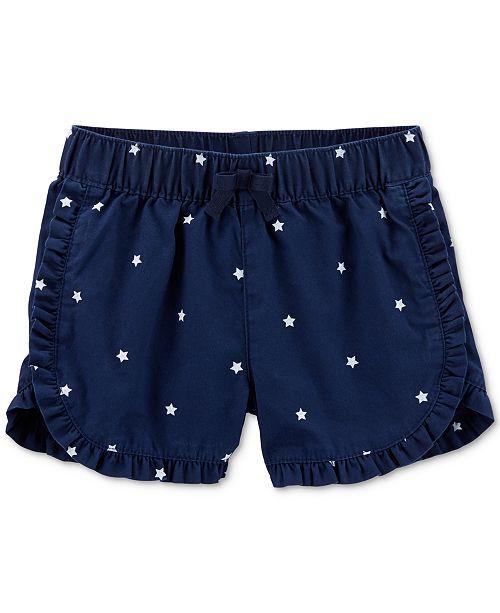 Carter's Toddler Girls Star-Print Cotton Shorts