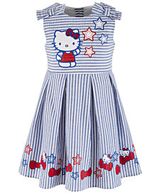 Hello Kitty Little Girls Printed Seersucker Pleated Dress, Created for Macy's