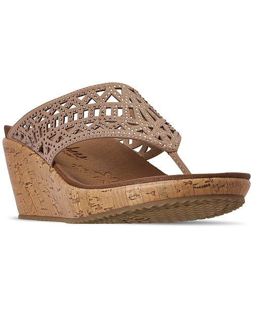 d4557489f08 ... Skechers Women's Cali Beverlee - Summer Visit Wedge Sandals from Finish  ...
