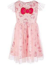 Little Girls Printed Clip Dot Dress, Created for Macy's