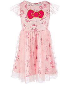 Hello Kitty Little Girls Printed Clip Dot Dress, Created for Macy's
