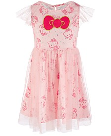 Hello Kitty Toddler Girls Printed Clip Dot Dress, Created for Macy's