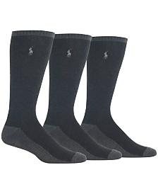 Polo Ralph Lauren Men's Heathered Socks, 3-Pack