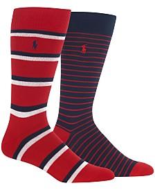 Polo Ralph Lauren Men's 2-Pk. Striped Socks