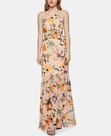 BCBGeneration Floral-Print Halter Maxi Dress