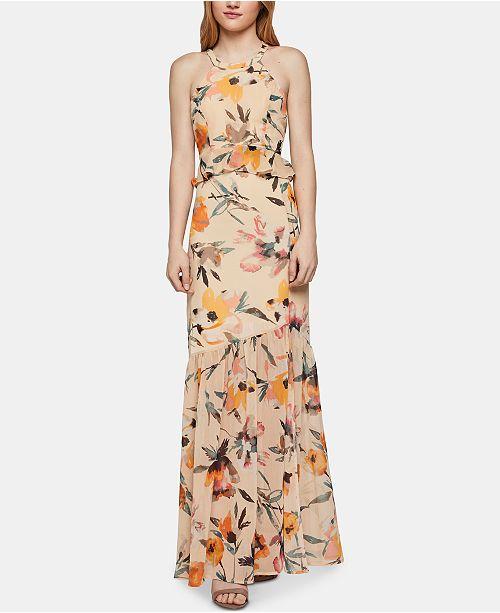 fae5696be6417 BCBGeneration Floral-Print Halter Maxi Dress   Reviews ...