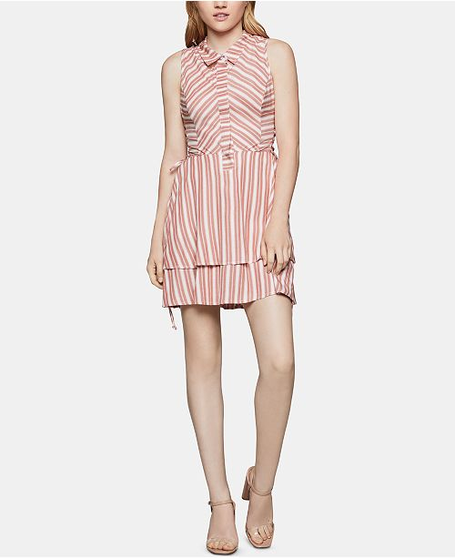 BCBGeneration Striped Tiered Fit & Flare Dress